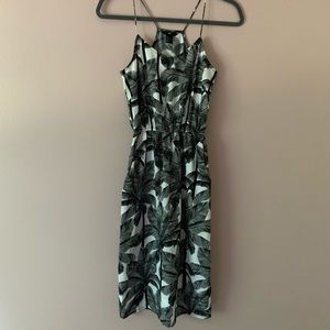 HM Palm tree print dress
